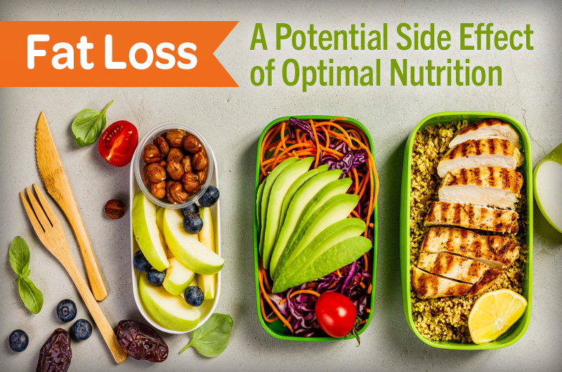Fat Loss a potential side effect of optimal nutrition delicious healthy prepped meals